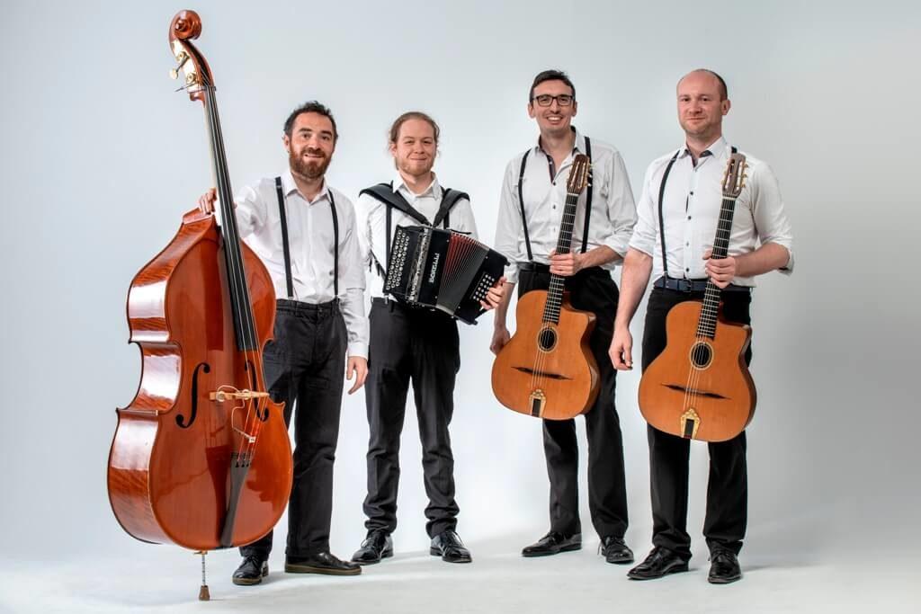 Quartet jazz manouche avec accrdéon