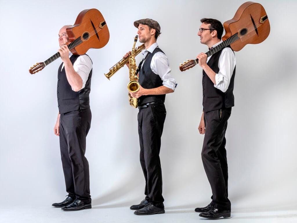 Trio jazz manouche avec saxophoniste