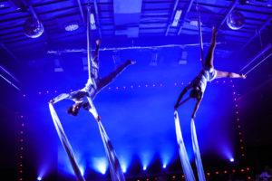 Duo aerien tissu lille hauts de france pour gala et diner spectacle cabaret
