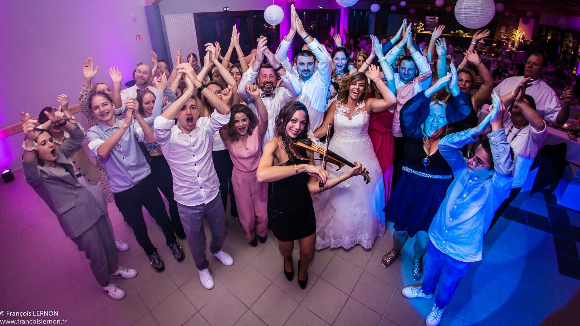 violoniste avec dj soiree mariage lille hauts de france